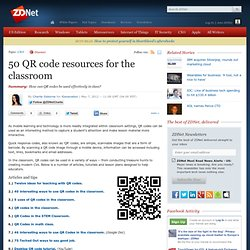 50 QR code resources for the classroom