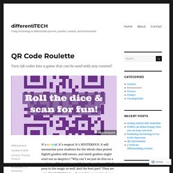 QR Code Roulette – differentiTECH