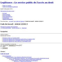Code du travail - Article L2242-5