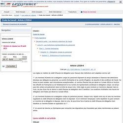 Code du travail - Article L2326-6