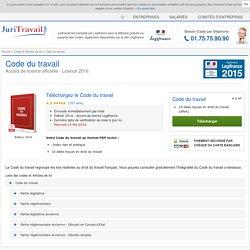 Code du travail : télécharger le PDF 2016