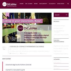 Code4SCUD: Coding e patrimonio culturale – DiCultHer