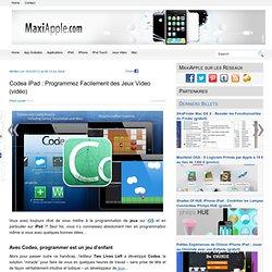 Codea iPad : Programmez Facilement des Jeux Video (vidéo)