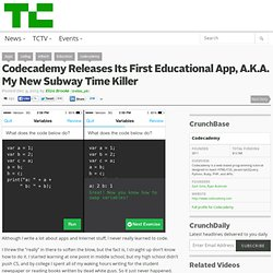 Codecademy Releases Its First Educational App, A.K.A. My New Subway Time Killer