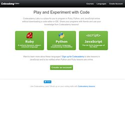 Codecademy Labs