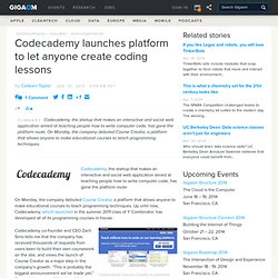 Codecademy launches platform to let anyone create coding lessons