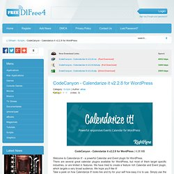 CodeCanyon - Calendarize it v2.2.8 for WordPress - Free Full Download