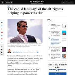 The coded language of the alt-right is helping to power its rise