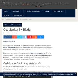 Codeigniter 3 y Blade - uno de piera