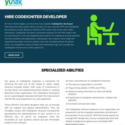Hire Codeigniter Developer - Full Time Dedicated Codeigniter Developer