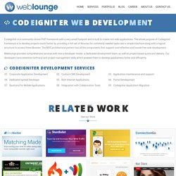 Weblounge - A Top Notch Codeigniter Development Company