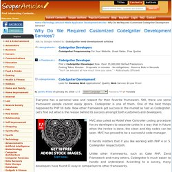 Unique Combinations of PHP and CodeIgniter Development Companies