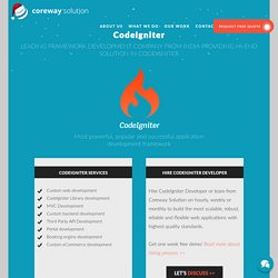 CodeIgniter Web Development - Offshore Web Development Company India