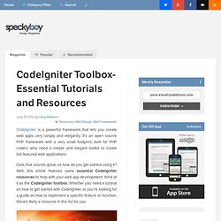 (Saving...) CodeIgniter Toolbox- Essential Tutorials and Resources