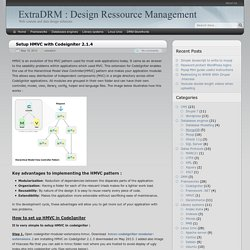Setup HMVC with Codeigniter 2.1.4 - ExtraDRM : Design Ressource Management