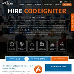 Hire CodeIgniter Developer, Hire CodeIgniter Web Programmer - eSparkBiz