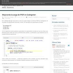 Mejorando la carga de FPDF en Codeigniter