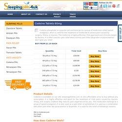 Codeine Tablets UK, Buy Codeine Pills Online