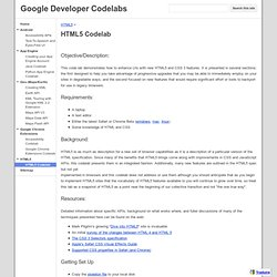HTML5 Codelab - Google Developer Codelabs