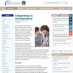 Codependency vs. Interdependency