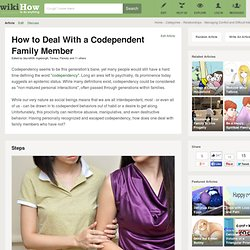 Deal With a Codependent Family Member