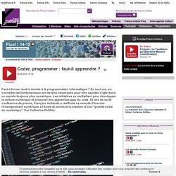 Coder, programmer : faut-il apprendre