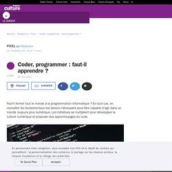 Coder, programmer : faut-il apprendre ?