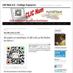 Des QR codes au CDI