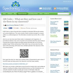 QR Codes – What are they and how can I use them in my classroom?