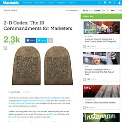 2-D Codes: The 10 Commandments for Marketers