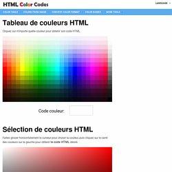Codes couleur HTML