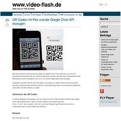 QR Codes mit Flex und der Google Chart API erzeugen