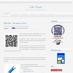 QR Codes - the mystery solved