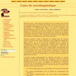 codes restreints codes élaborés