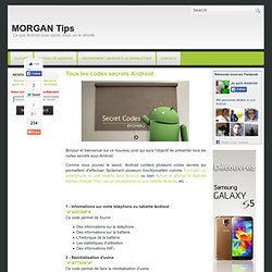 Tous les codes secrets Android ~ MORGAN Tips