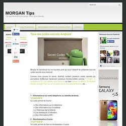 Tous les codes secrets Android ~ MORGAN Tips