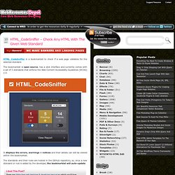 HTML_CodeSniffer – Check Any HTML With The Given Web Standard
