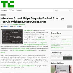 Interview Street Helps Sequoia-Backed Startups Recruit With Its Latest CodeSprint