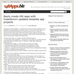 Easily create iOS apps with CodeStore's updated template app projects