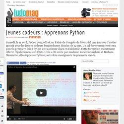 Jeunes codeurs : Apprenons Python