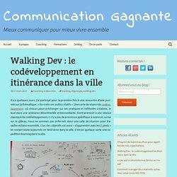 Walking Dev : le codéveloppement en itinérance dans la ville