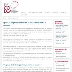 Association Française du Codéveloppement Professionnel