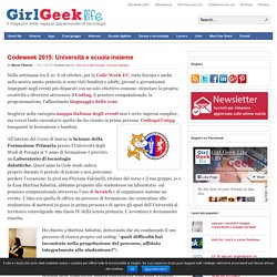 Codeweek 2015: Università e scuola insieme