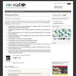 Código periodístico - re-visto