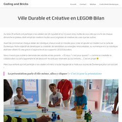 Coding and Bricks » Ville Durable et Créative en LEGO® Bilan