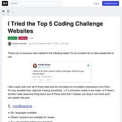 I Tried the Top 5 Coding Challenge Websites - DEV