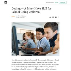 Coding — A Must-Have Skill for School Going Children - RoboGenius.in