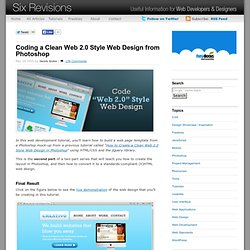 Coding a Clean Web 2.0 Style Web Design from Photoshop