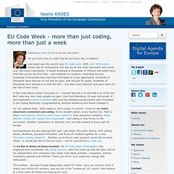 EU Code Week - more than just coding, more than just a week