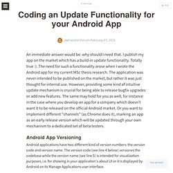 Juri's TechBlog: Coding an Update Functionality for your Android App